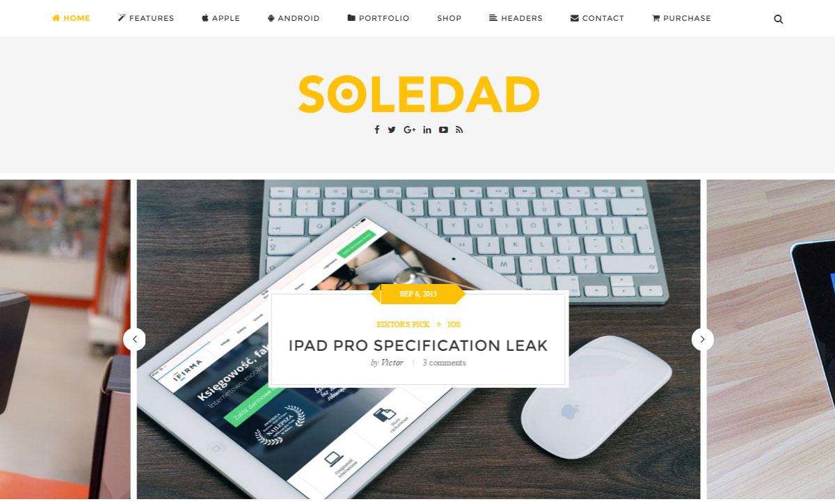 Soledad Theme Review Tech Demo