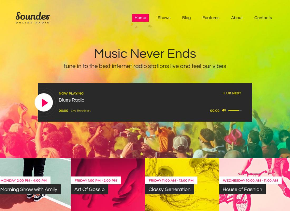 Sounder | Online Internet Radio Station WordPress Theme