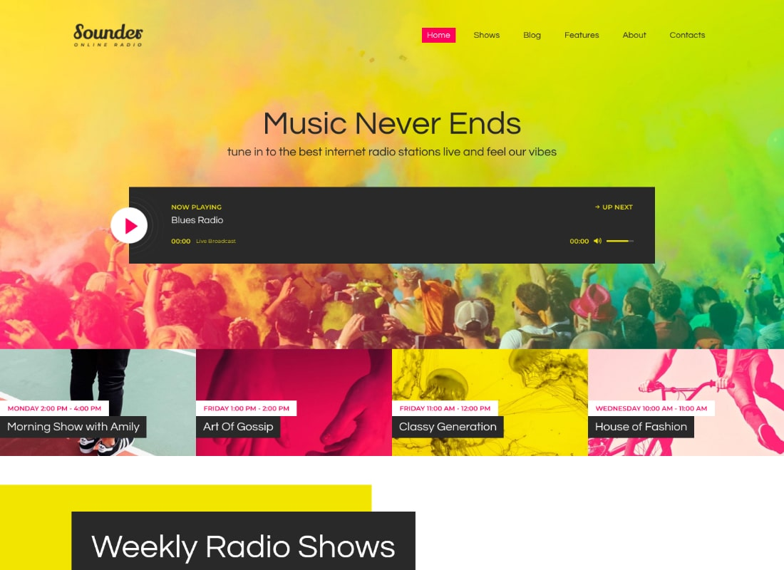 Sounder | Online Radio WordPress Theme