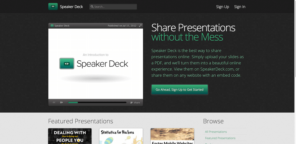 Speaker Deck Share Presentations without the Mess