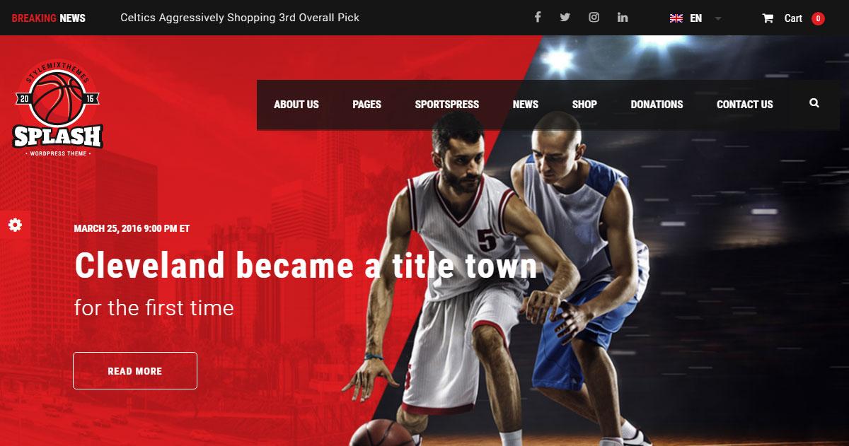 Splash Theme Review: A Feature-Rich WordPress Sports Theme