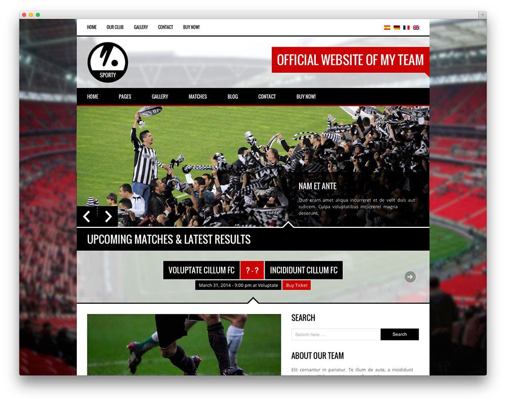 Sporty Football theme