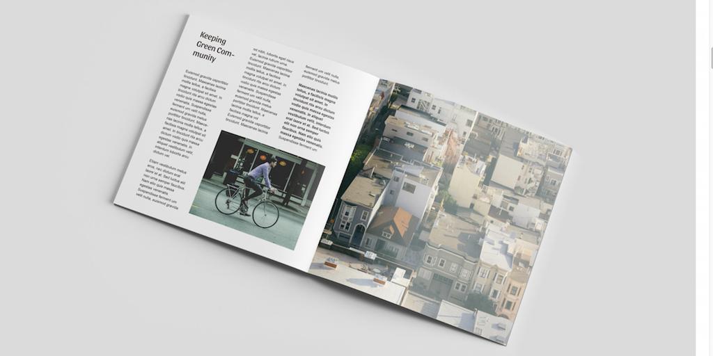 Maqueta de la revista Square - PSD gratis