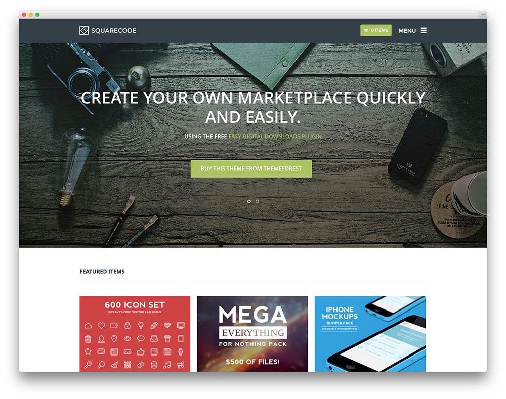 SquareCode WordPress template