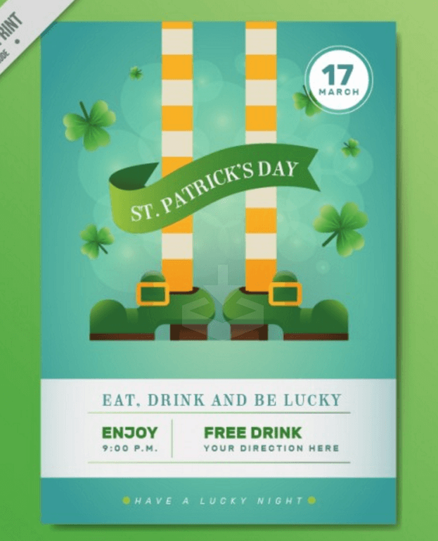 St. Patrick Day Party Flyer