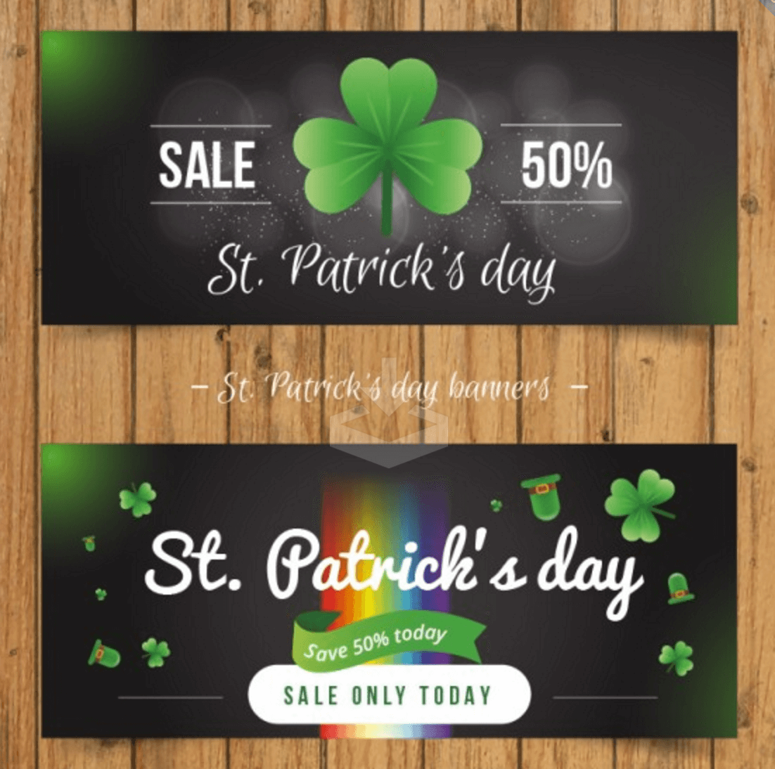 St. Patricks Day Banners for Sales