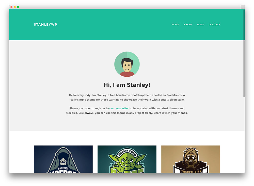Stanley blog theme