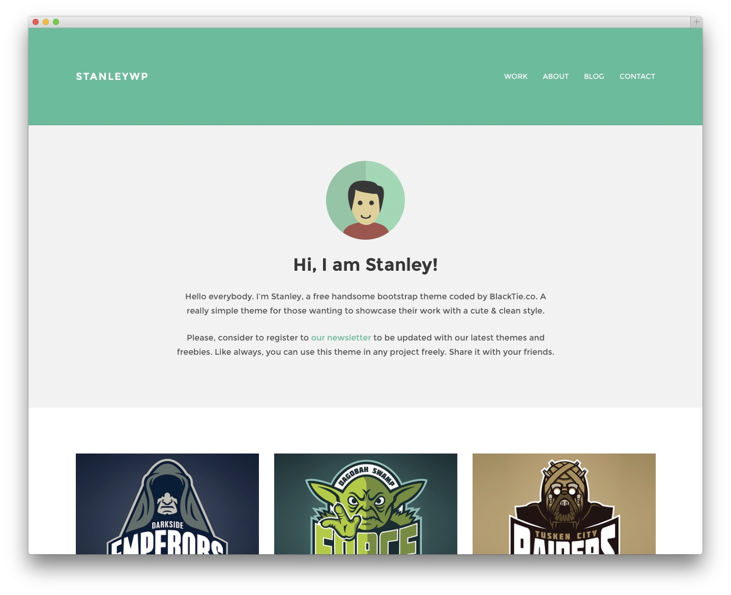 StanleyWP - Free blog theme