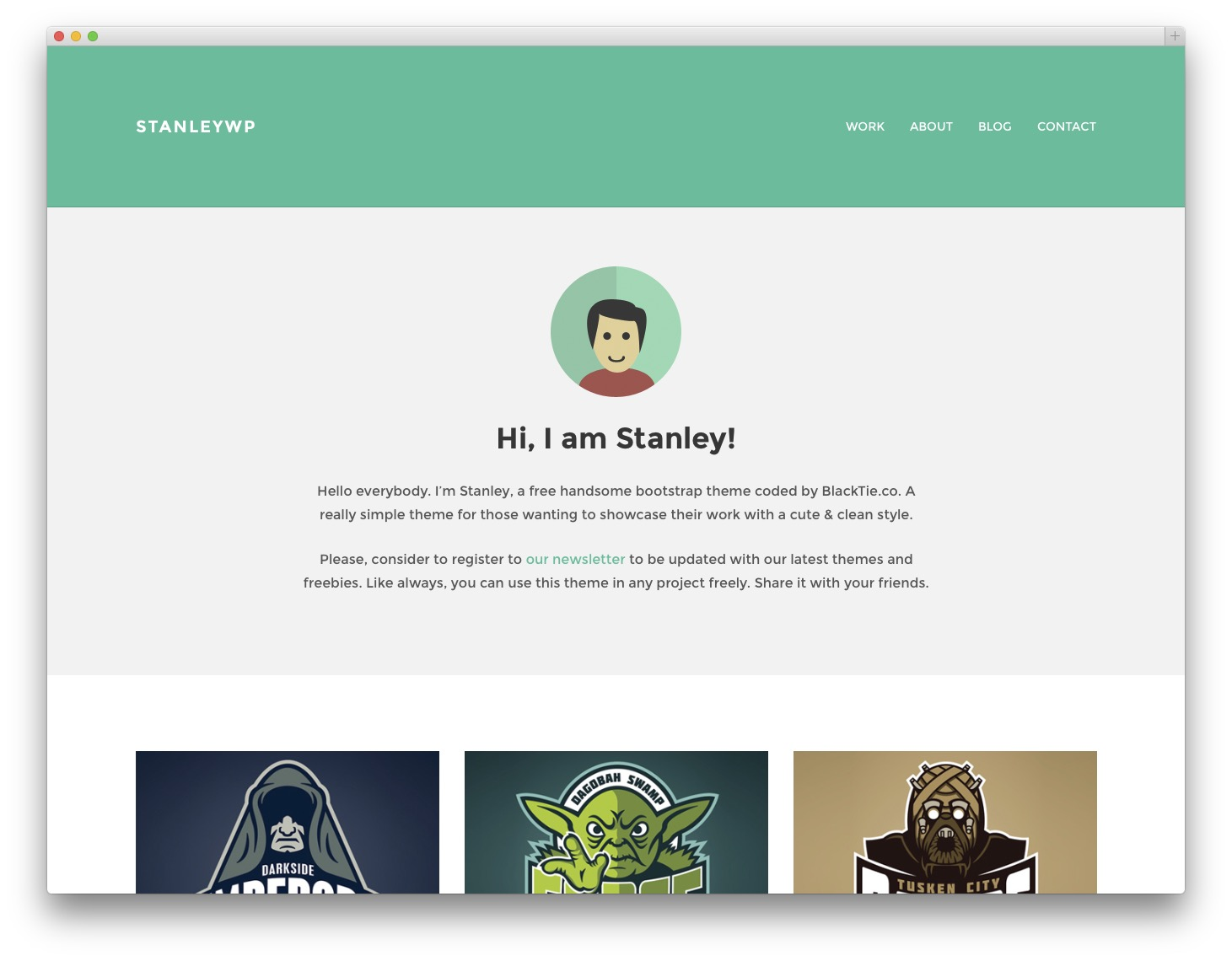 StanleyWP personal blog theme