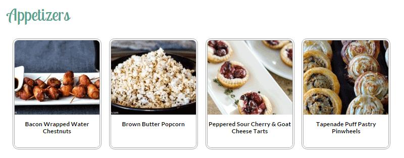 Start a Food Blog Visual Index