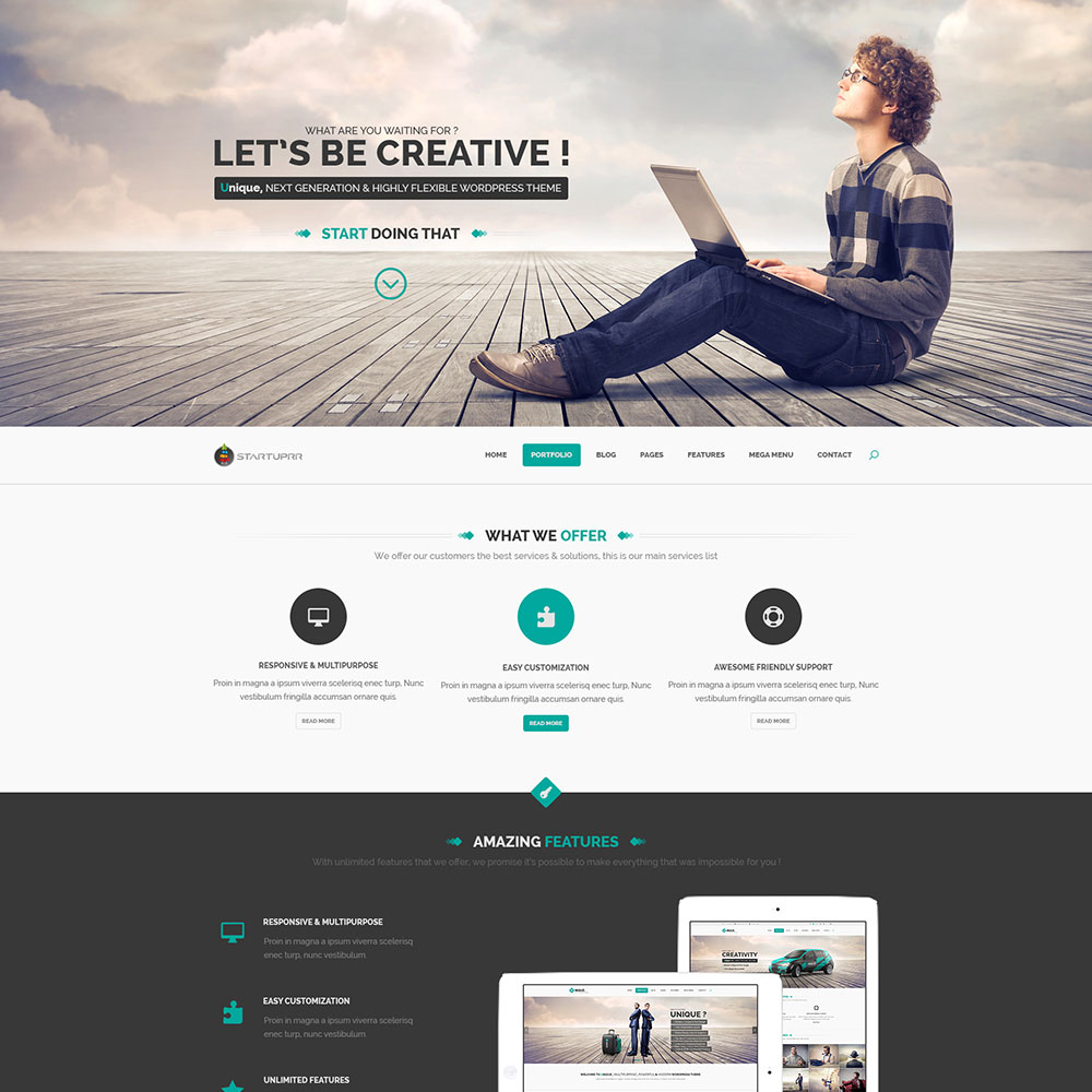 Startuprr Free One Page PSD Template