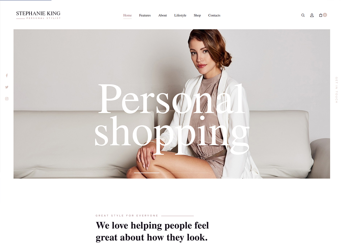 S.King - Personal Stylist and Fashion Blogger WordPress Theme