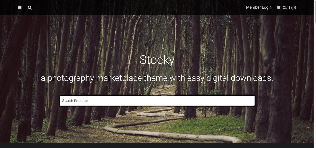 Stocky - Stock photography WordPress marketplace