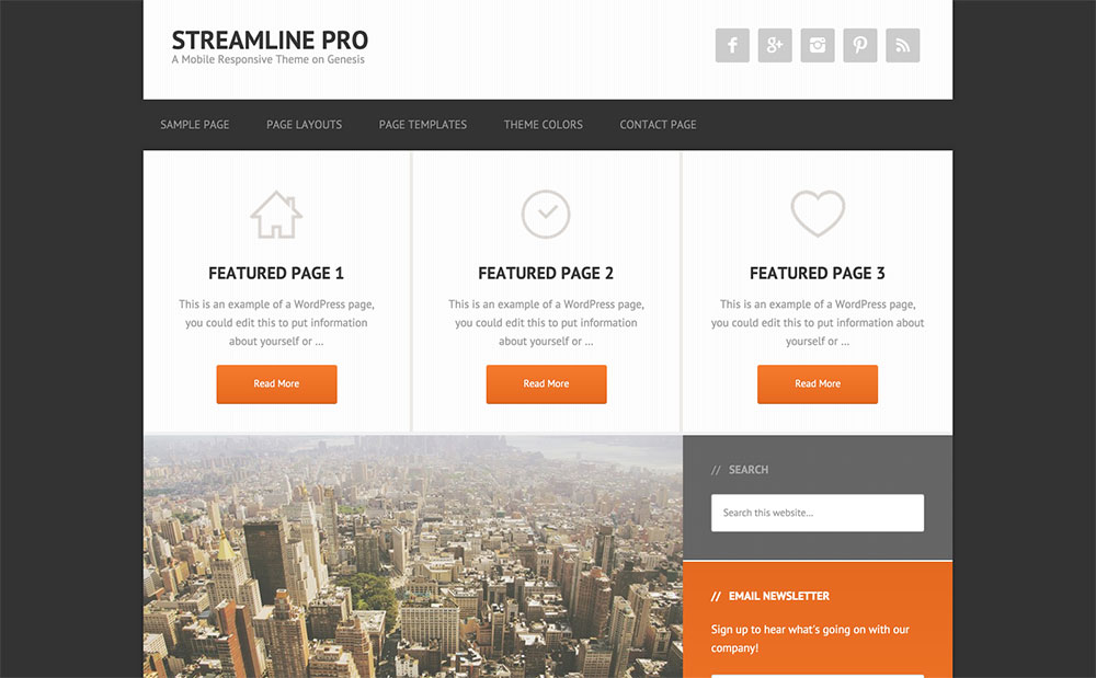 Streamline - multipurpose theme