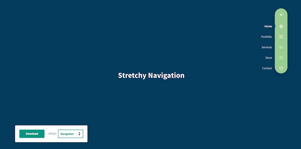 Stretchy Navigation CodyHouse