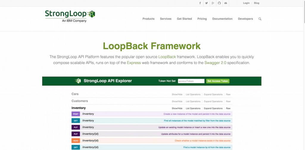 StrongLoop LoopBack Framework