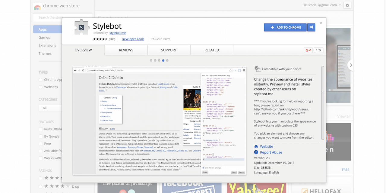 Stylebot Chrome Web Store