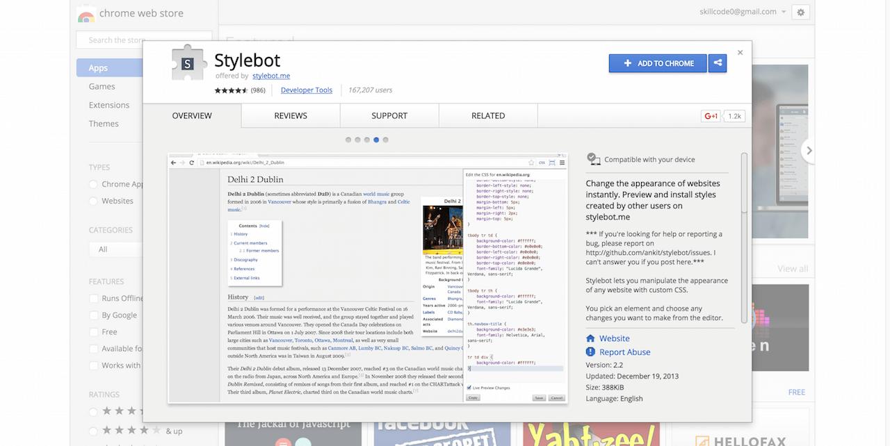 Stylebot Chrome Web Store