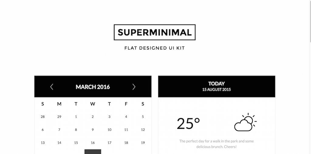 Superminimal -- Flat Designed UI Kit