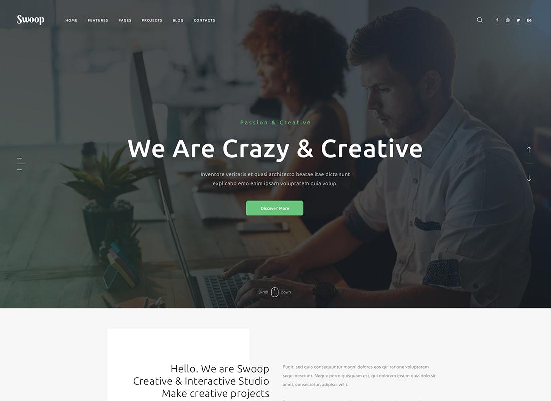 Swoop | Web Studio & Creative Agency WordPress Theme