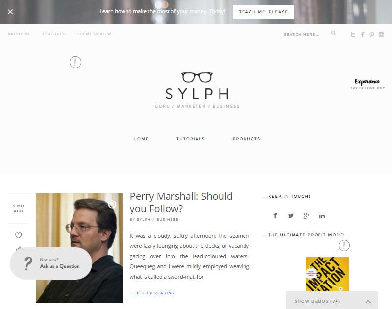 Sylph Business Blogger Theme