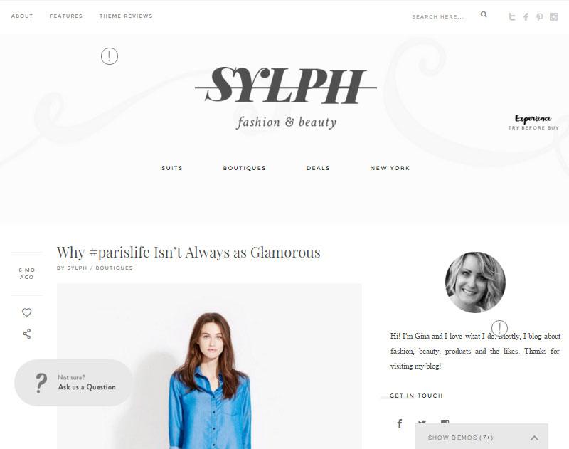 Sylph Fashion Blogger Demo