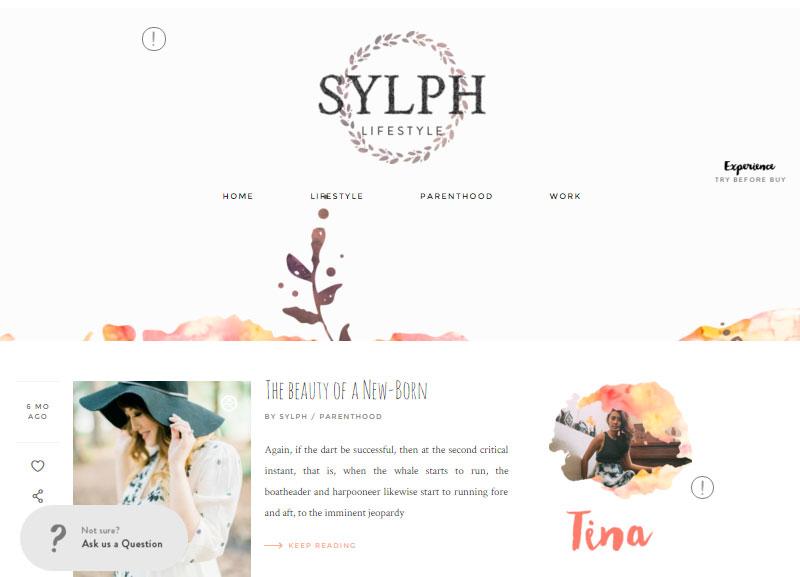 Sylph Lifestyle Blog Theme