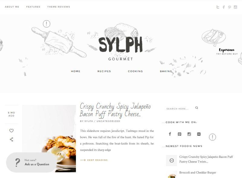 Sylph Start a Food Blog