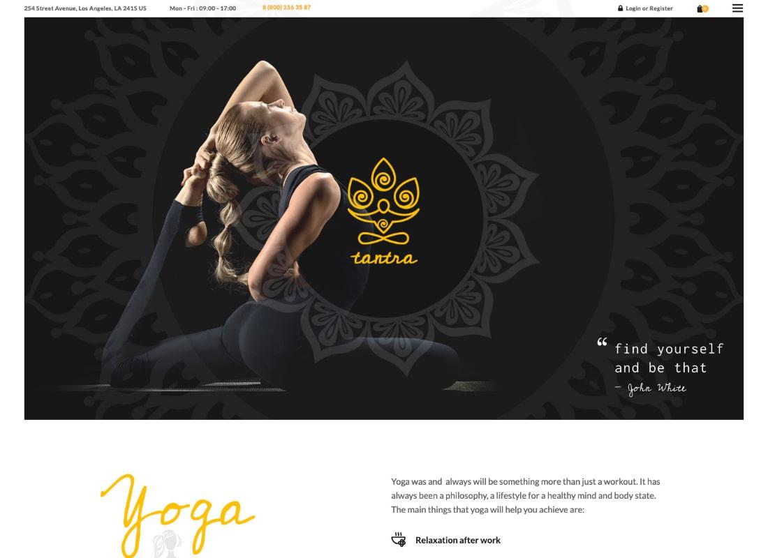 Tantra   A Yoga Studio and Fitness Club WordPress Theme