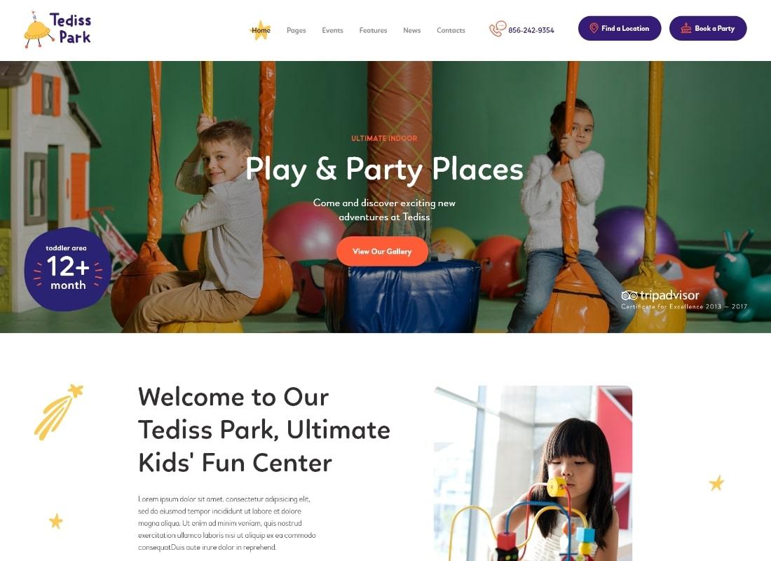 Tediss | Play Area & Child Care Center WordPress Theme