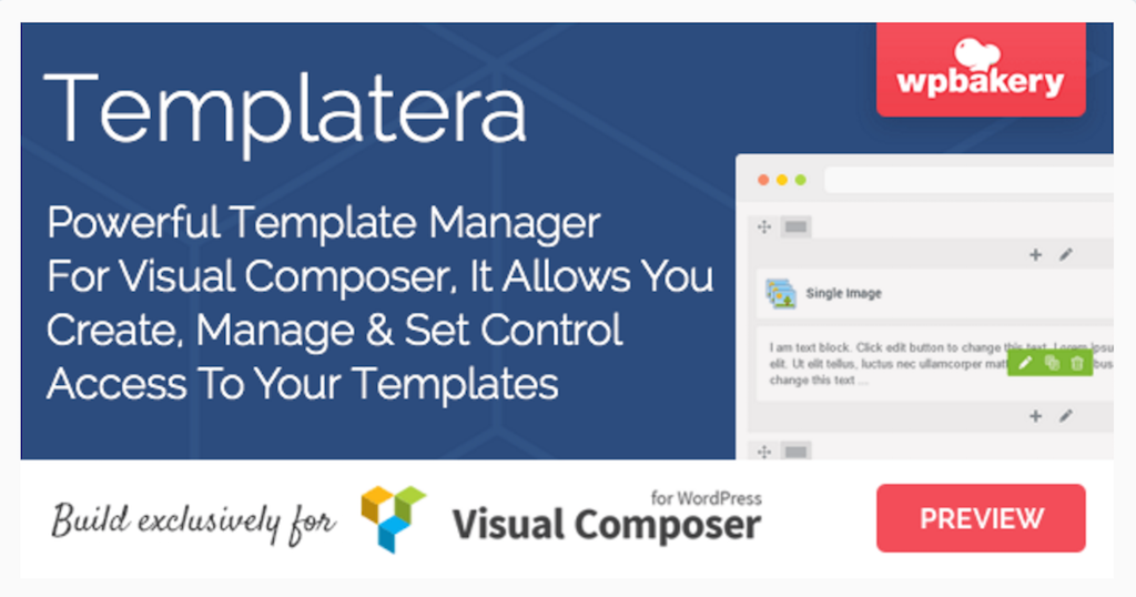 Templatera Template Manager for WPBakery Page Builder WordPress