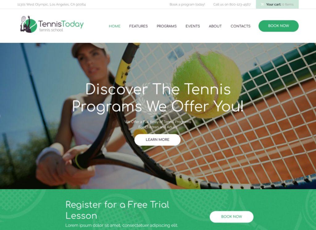 Tennis Today | Sport School & Events WordPress Theme