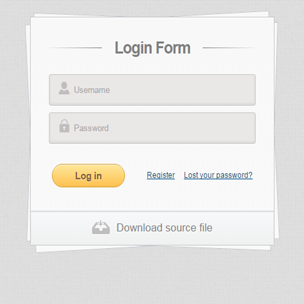 Login Form CSS3 HTML5 Textbook Example