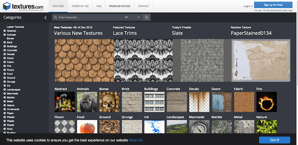 Textures.com Textures for 3D graphic design and Photoshop