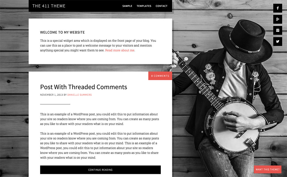 The-411 blogging theme