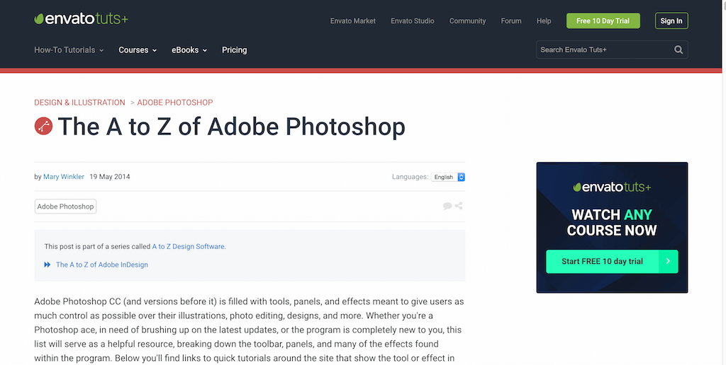 The A to Z of Adobe Photoshop