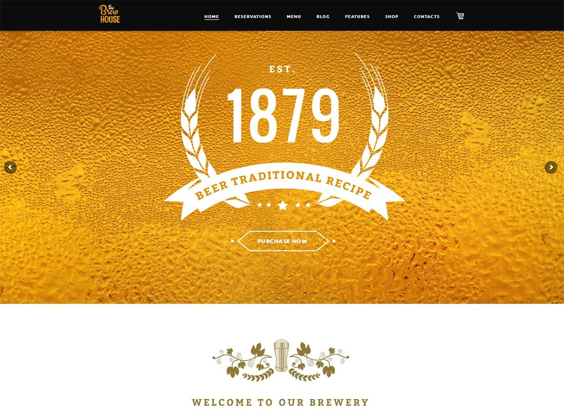 The Brew House | Brewery / Pub / Restaurant WordPress Theme