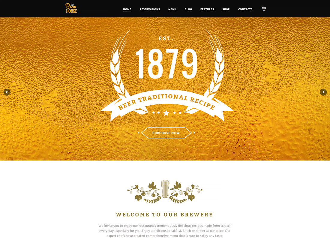The Brew House - Brewery / Pub / Restaurant WordPress Theme