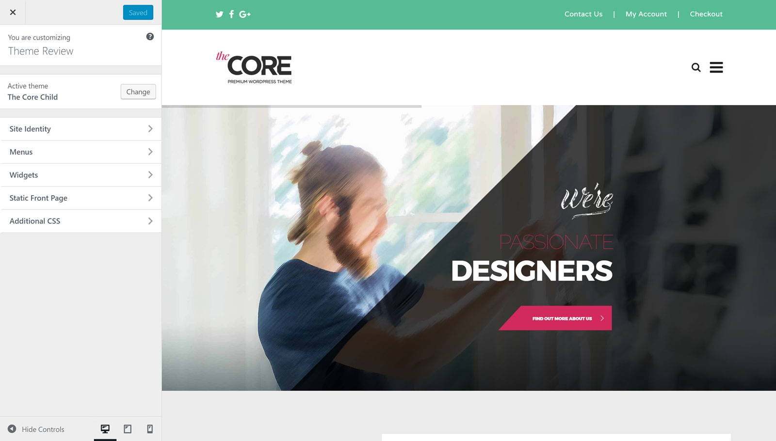 The Core Customizer
