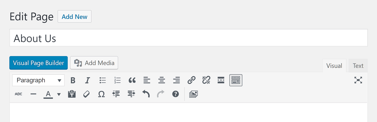 The Core Visual Editor Button