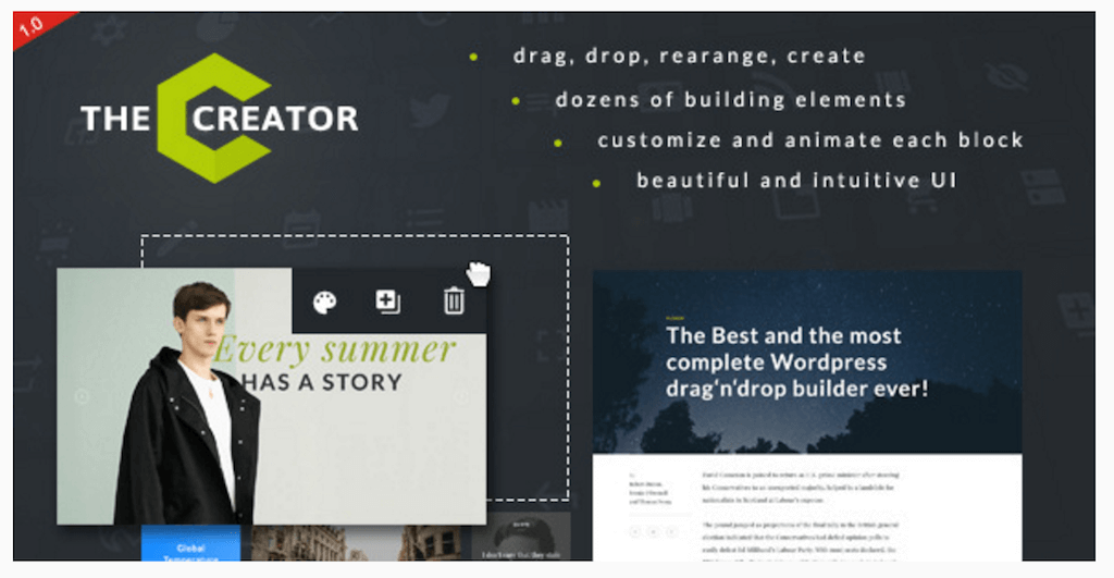 The Creator Visual Page Builder for WordPress WordPress