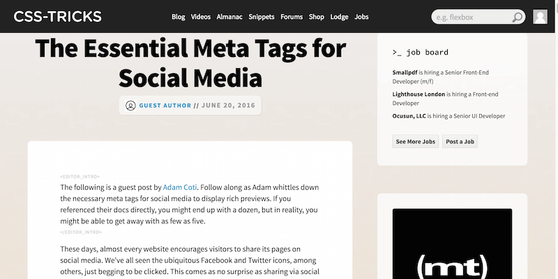 The Essential Meta Tags for Social Media