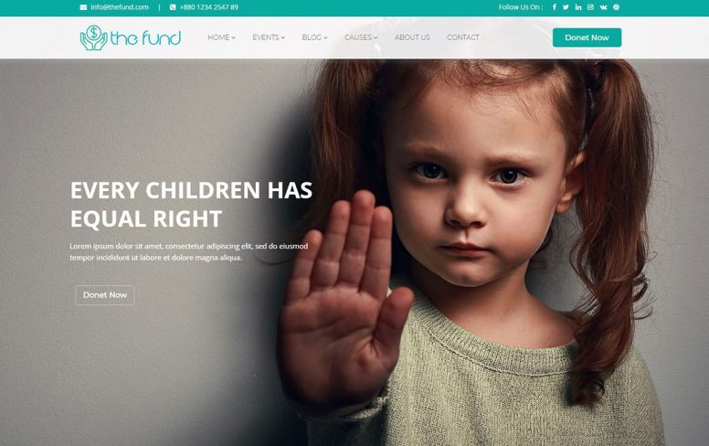 20 Best Premium And Free NGO Website Templates 2018