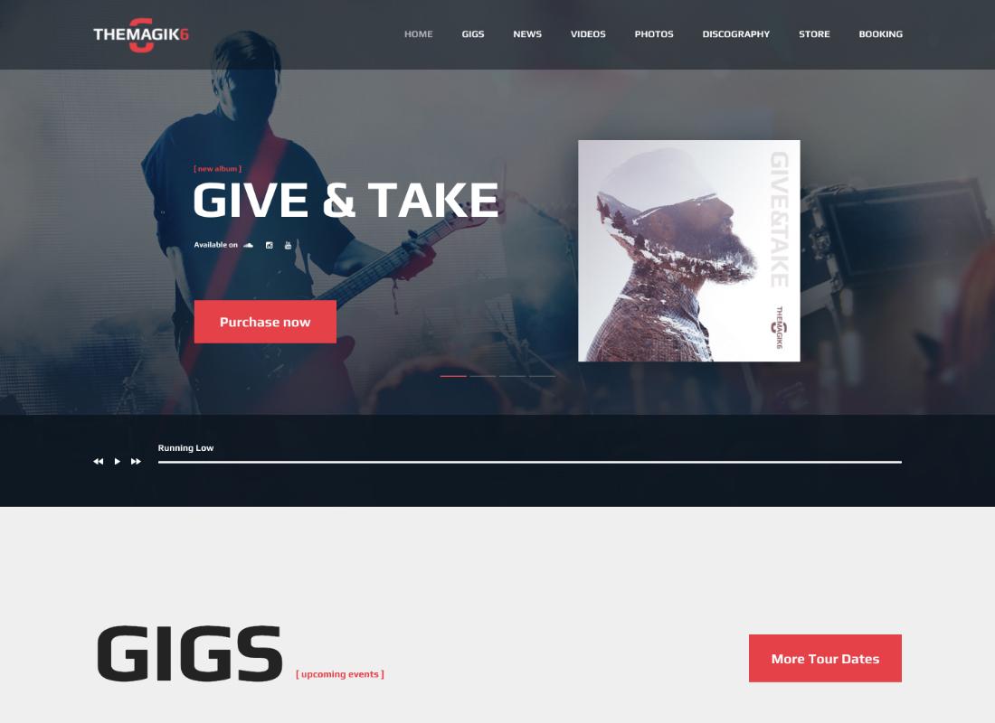 The Magic 6 | Music Band & Musician Artist WordPress Theme