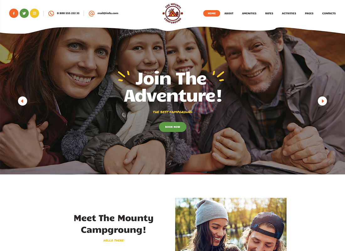 The Mounty - Campground & Camping WordPress Theme