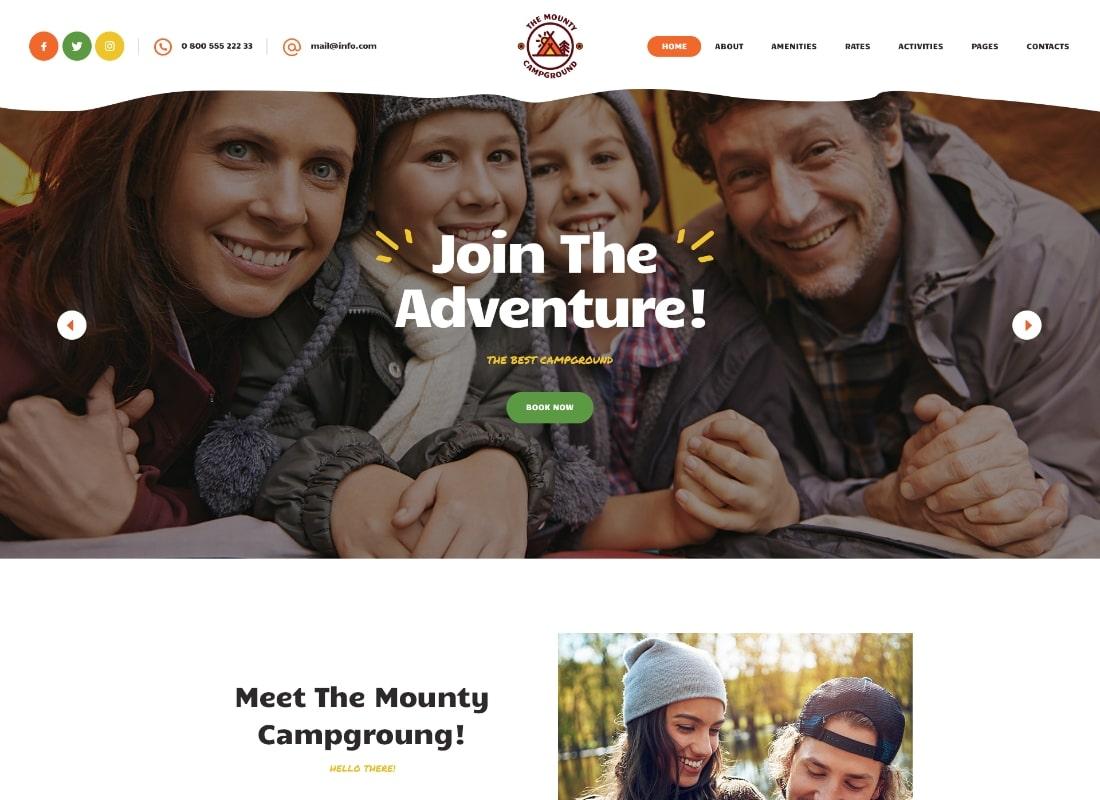 The Mounty | Campground & Camping WordPress Theme