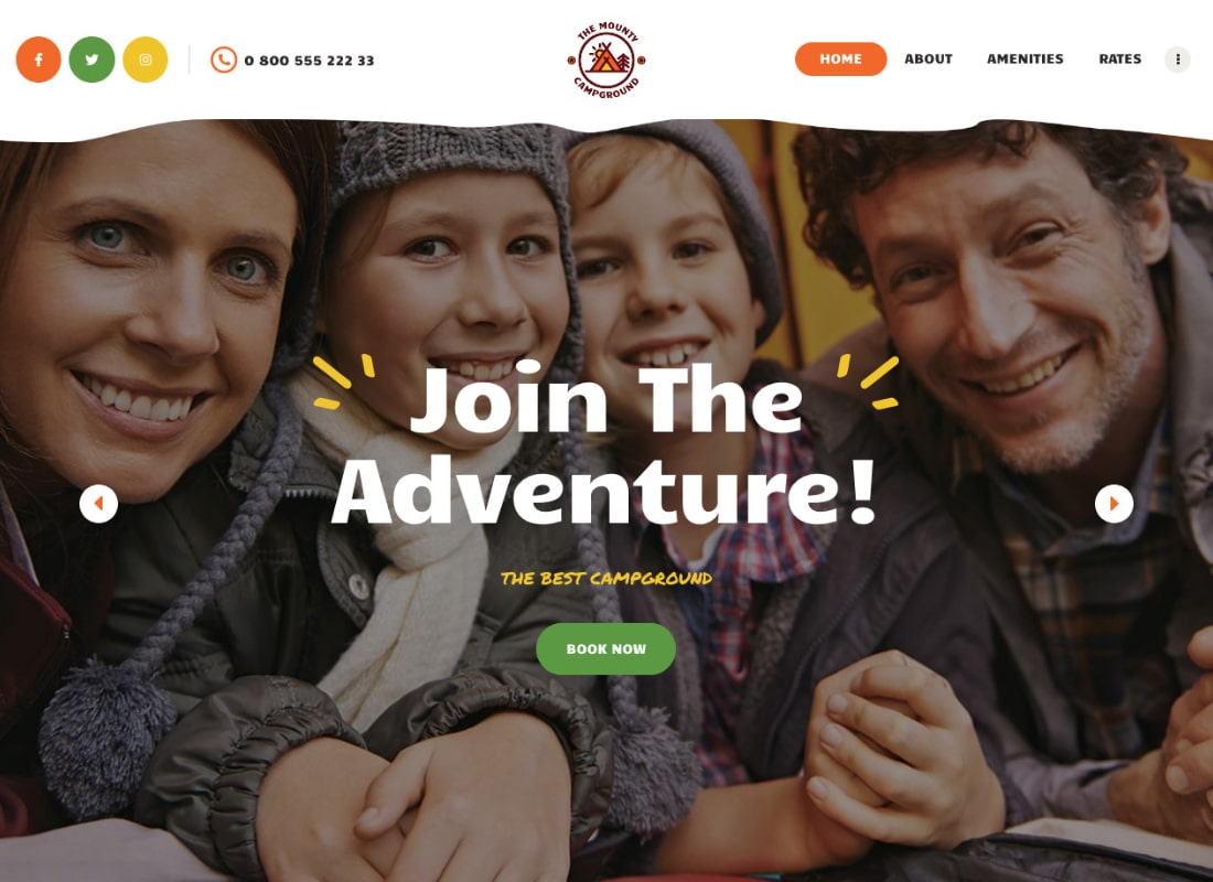 The Mounty | Campground & Camping WordPress Theme