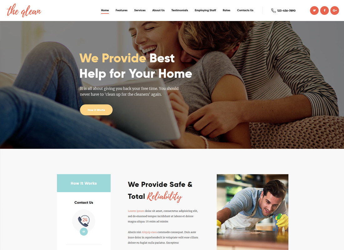 The Qlean - Cleaning Company WordPress Theme