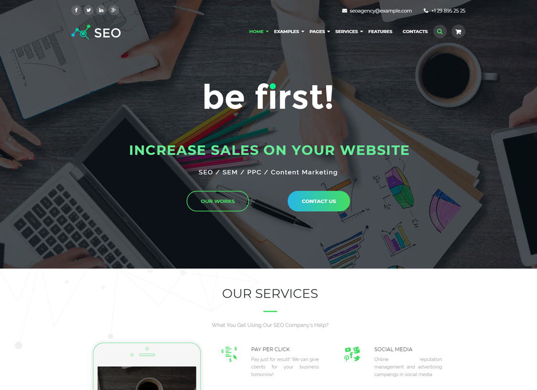 The SEO - Digital Marketing Agency WordPress Theme