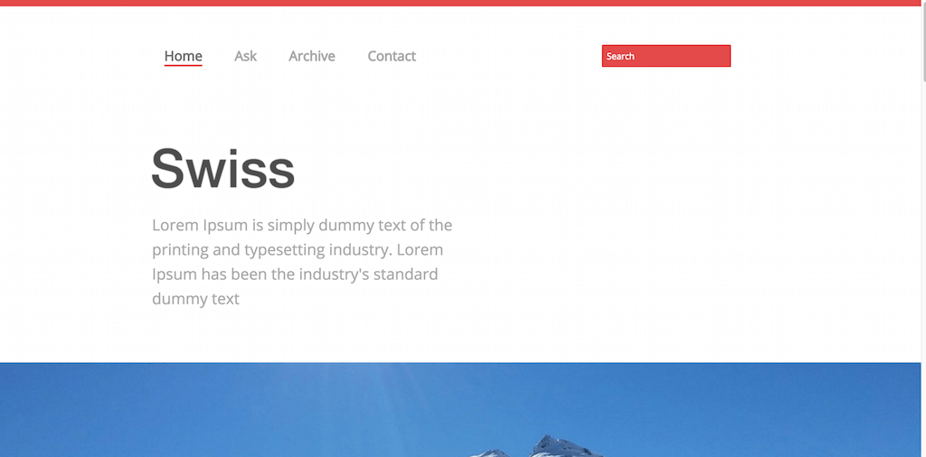 The Swiss Website Template Home w3layouts